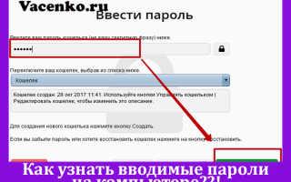 Как узнать введенные пароли в браузере