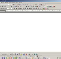 Структура окна ms word