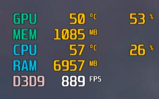 Не отображается температура видеокарты