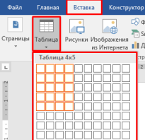 Как сделать таблицу microsoft office word