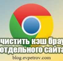 Очистка кэша сайта в браузере