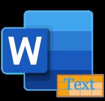 Преобразование текста в word